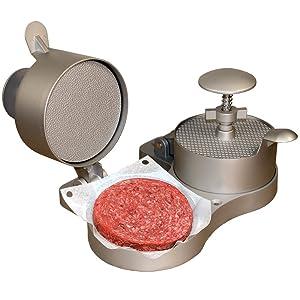 "Weston Burger Express Double Hamburger Press with Patty Ejector (07-0701), Makes 4 1/2"" Patties, 1/4lb to 3/4lb"