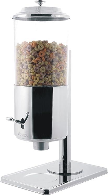 Expendedor de muesli y cereales Dispensador Dispensador único 7 litros de acero inoxidable con un depósito