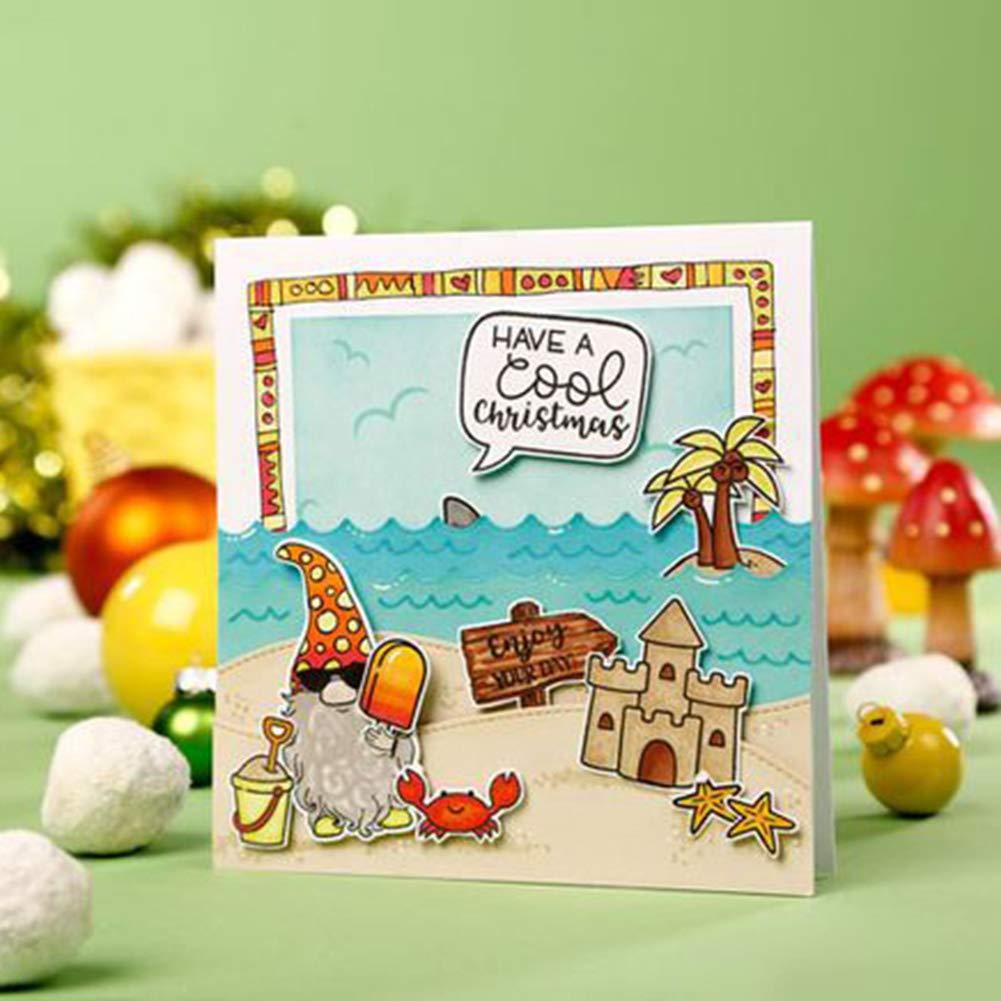 dise/ño de gnomo navide/ño de metal Troqueles de corte Muzhili3 sellos Cutting Die /álbumes /álbumes de recortes tarjetas para manualidades decoraci/ón