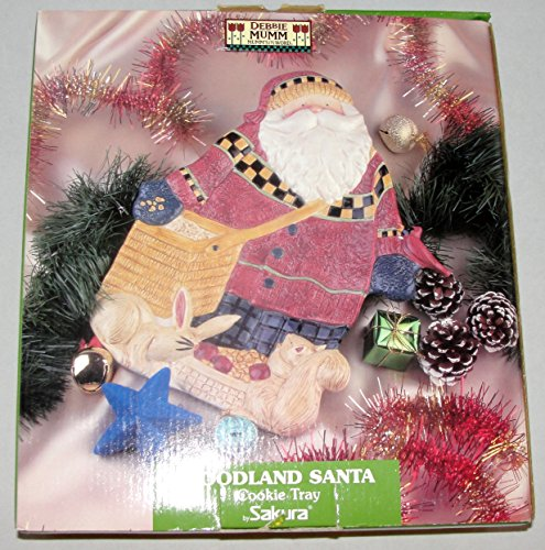 Debbie Mumm Woodland Santa Christmas Cookie Tray by Sakura ()