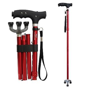 Amazon.com: KingGear Travel Adjustable Folding Canes and Walking ...