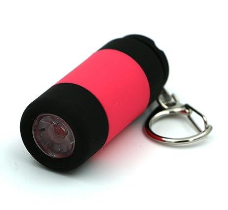 DaoRier 1pc Llavero Linterna Mini de USB LED Recargables de Bolsillos de Impermeable LED de Llavero