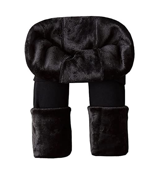 93edb4642c1 Ouye Women s Full Length Fleece Lining Thermal Leggings Black One Size