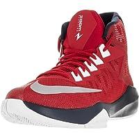 Nike Men's Zoom Devotion Basketball Shoe (University rojo / metálico platino / Mid azul marino)