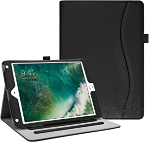 Fintie Case for iPad 9.7 2018 2017 / iPad Air 2 / iPad Air - [Corner Protection] Multi-Angle Viewing Folio Cover w/Pocket, Auto Wake/Sleep for iPad 6th / 5th Gen, iPad Air 1/2, Black