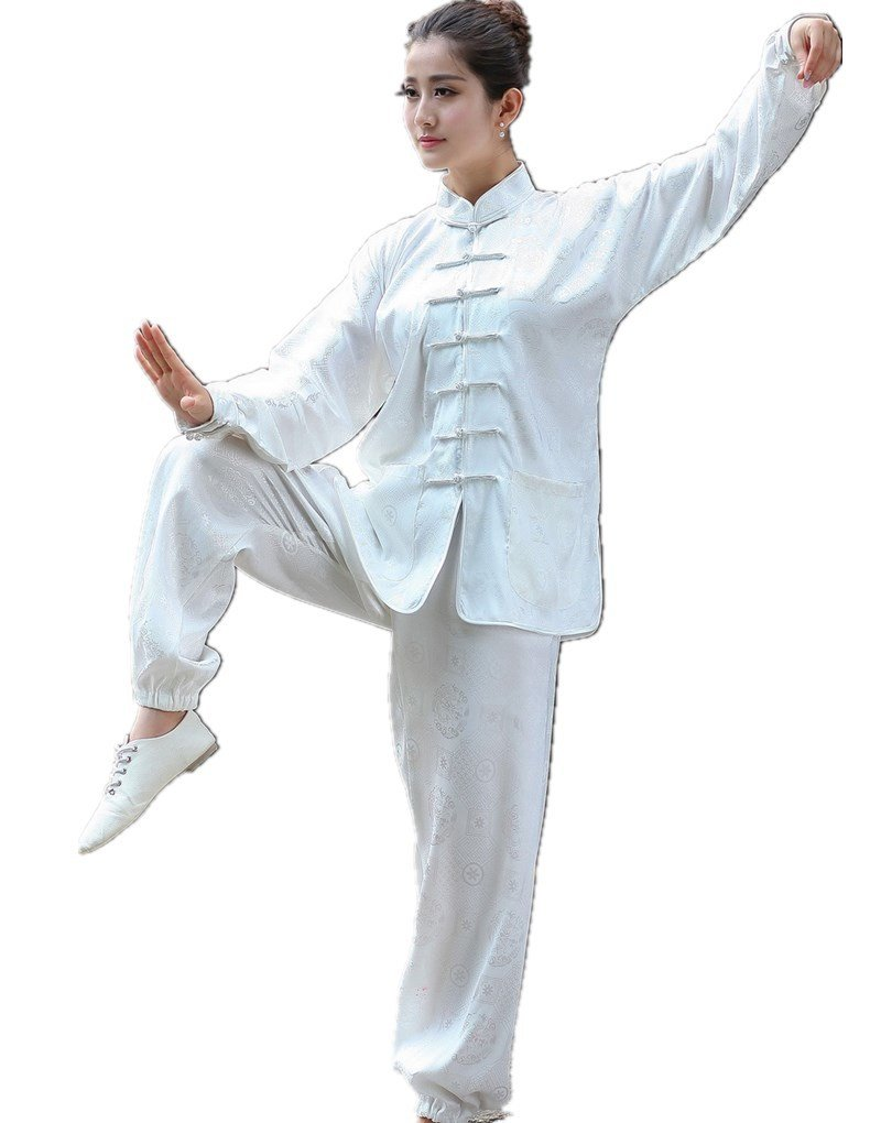 Shanghai Story Martial Arts Women's Tai Chi Uniform Silk Kung Fu Suit L 05 by Shanghai Story