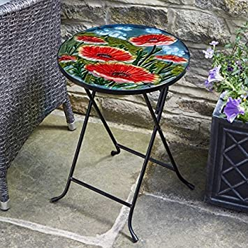 Beautiful Hand Painted Glass Table By Online Garden Centre Give Your Or