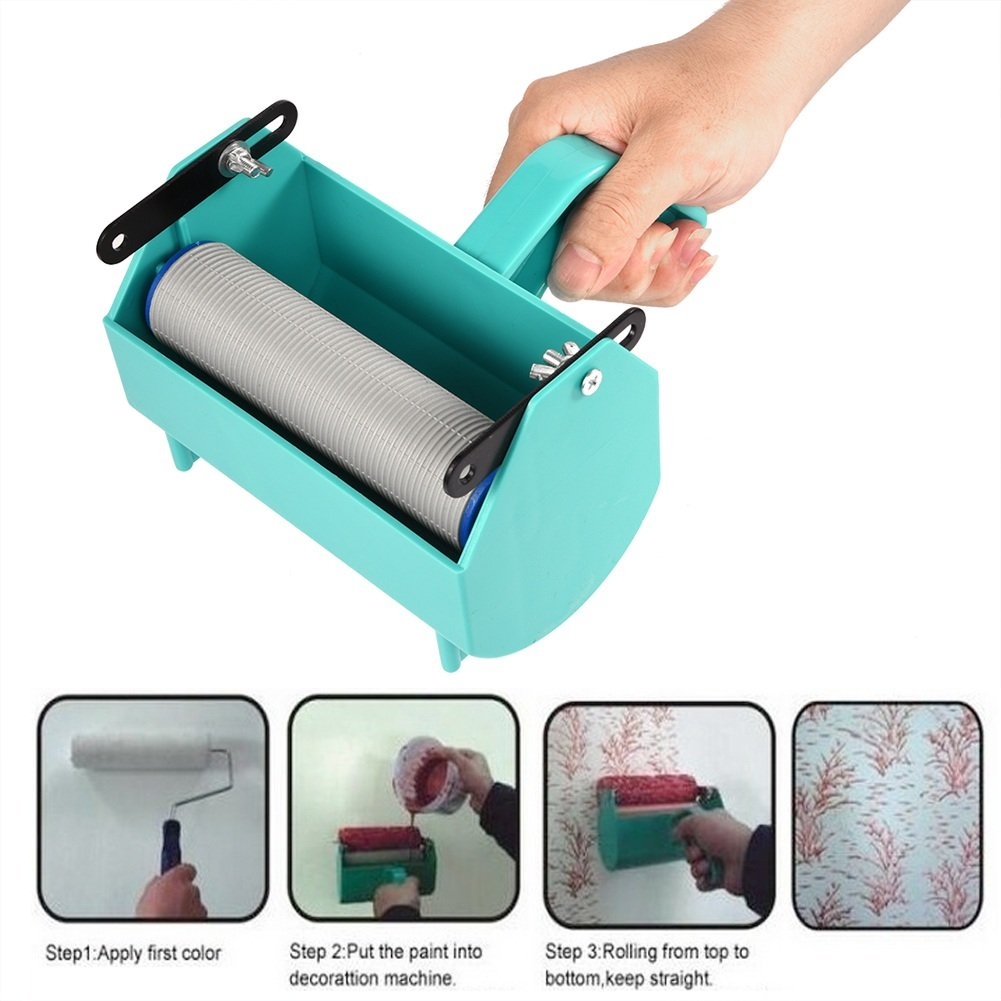 Painting Machine Paint Roller for 5 Inch Roller Brush Great Tool Green DIY Home Wall Decoration