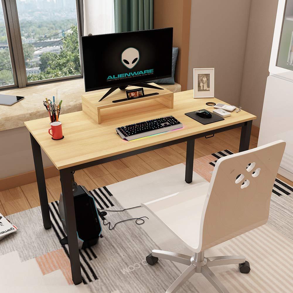 Ergonomic Gaming Desk con Ampia Superficie di Gioco Tavolo da Gioco PC Gamers Nero BHEU-AC14CB sogesfurniture Scrivania per Computer da Gioco
