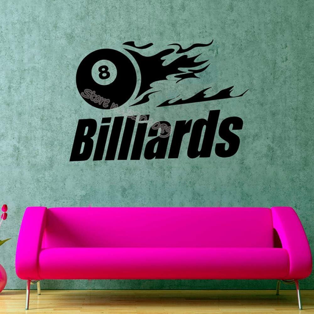 zqyjhkou Billar Número Ocho Etiqueta de La Pared Snooker Game Club Ball Deportivo Silueta Poster Diseño de Interiores Extraíble Mural de Vinilo Eb372 158x110cm: Amazon.es: Hogar