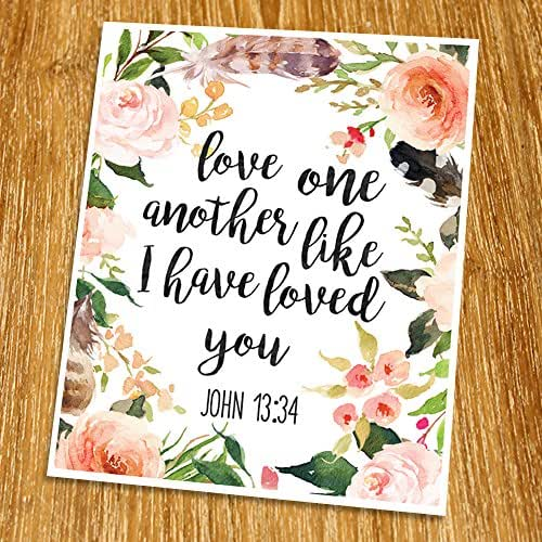 photograph regarding Love One Another Printable named John 13:34 Enjoy a single yet another which includes I include enjoyed on your own Print (Unframed), Marriage ceremony bible verse, Scripture Print, Delight in estimate Print, Christian Wall Artwork,