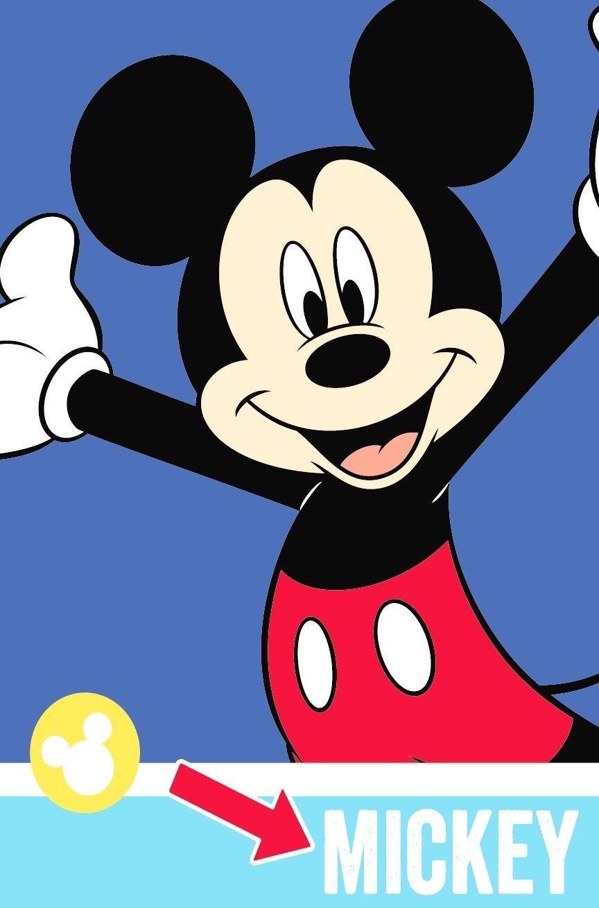 Mickey Mouse 'Smiles' Fleece Blanket - Large Print Character World DMMSMIFL003UK