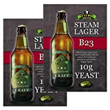 2x Bulldog B23 Steam Lager Yeast Craft Series Beer Yeast 10g for 20-25L