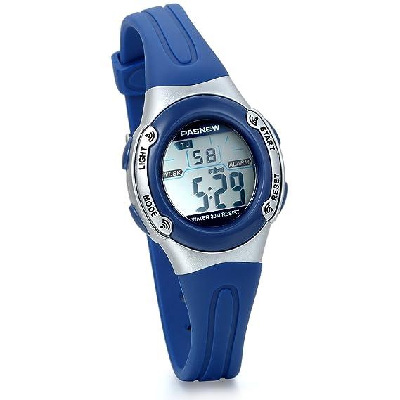 Jewelrywe reloj deportivo para niños niñas reloj digital multifunciones de aire libre, reloj azul para niño: Amazon.es: Relojes