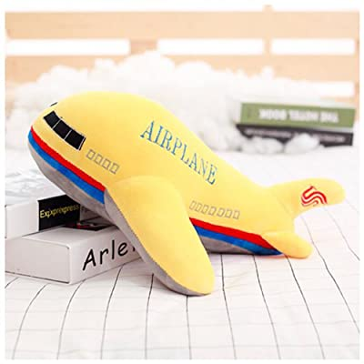 HYL World 15.7 Inches Aircraft Plush Toy - Airplane Stuffed Toy - Yellow: Toys & Games