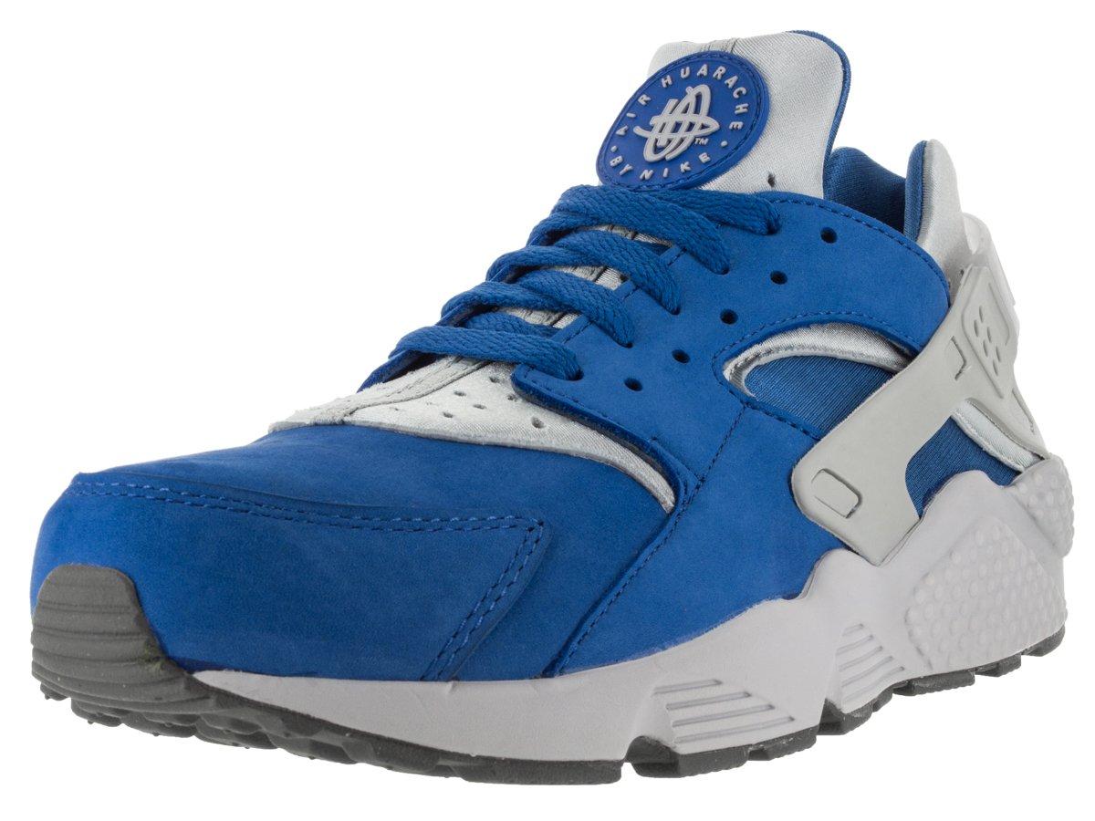 Nike Herren Air Huarache Run Prm Laufschuhe  44.5 EU|Mehrfarbig (Varsity Royal/Wolf Grey-cl Gry)