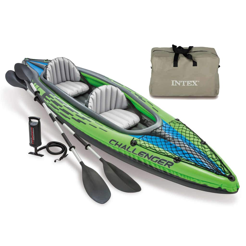 Festnight Kayak Inflable Verde K2 351x76x38 cm 68306NP ...