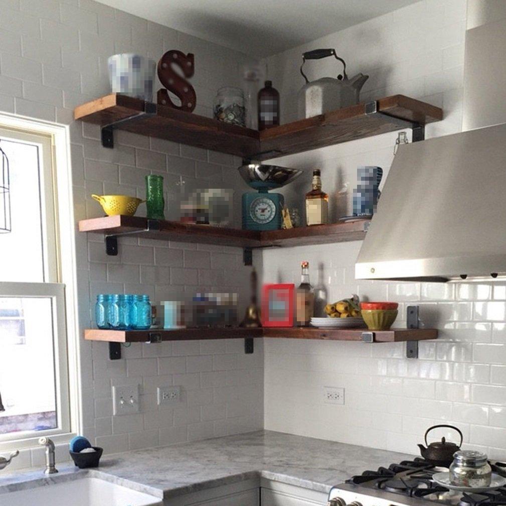 Schweberegale / Wandregal - Loft Retro Eisen Regal Küche Wand ...