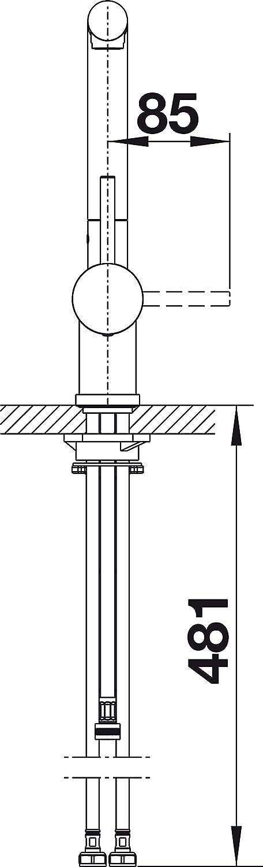 surface m/étalliques haute pression chrome 516689 BLANCO Linus de s Vario Robinet de cuisine