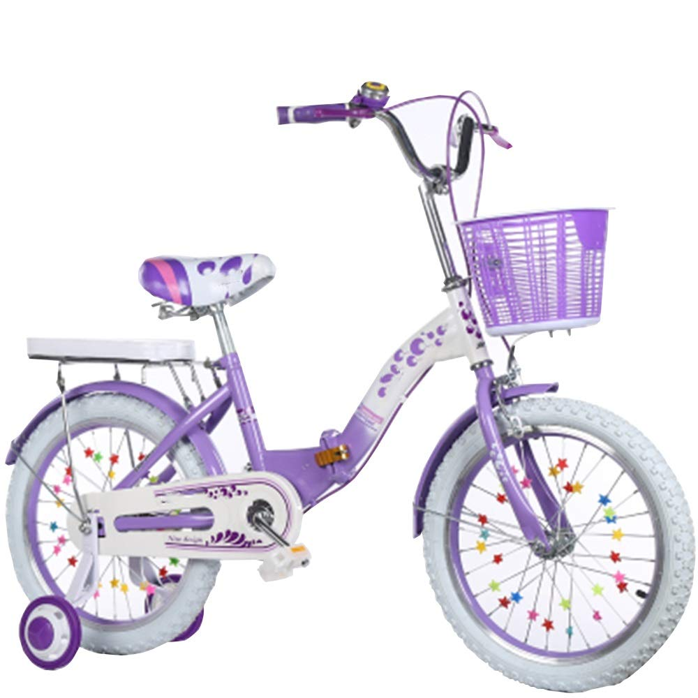 ordene ahora los precios más bajos púrpura púrpura púrpura Axdwfd Infantiles Bicicletas Bicicletas para niños Bicicletas para niños de Acero al Carbono con Rueda de Entrenamiento de 16 18 20 Pulgadas para niños y niñas, Apto para niños de 4 a 11 años 16in  en stock