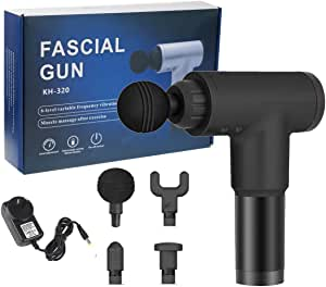 Vinteky Portable Muscle Massager Deep Tissue Percussion Vibration Massage gun for Athletes & Professionals Use for Men Women Body Aches & Workout (Black)