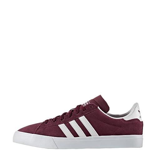finest selection 38a9f 4bca3 Zapatillas adidas - Campus Vulc II ADV GranateBlancoBlanco Talla 40  Amazon.es Zapatos y complementos