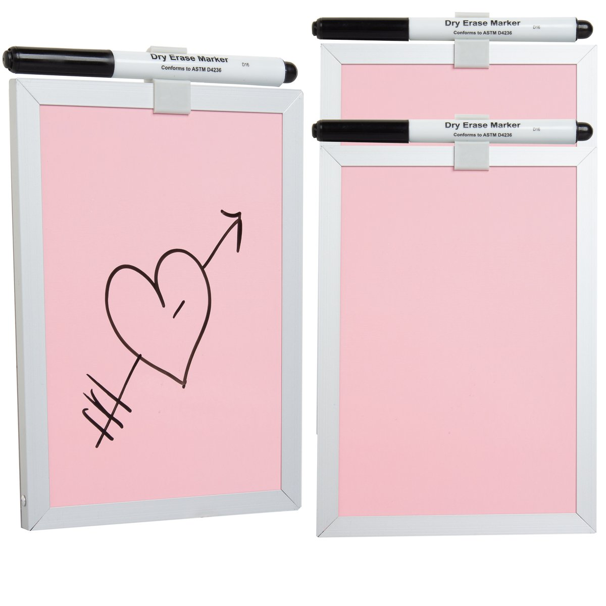 Foray (3 Pack) 5x7 Magnetic Dry Erase Board Small + Dry Erase Markers White Board for School Home Office