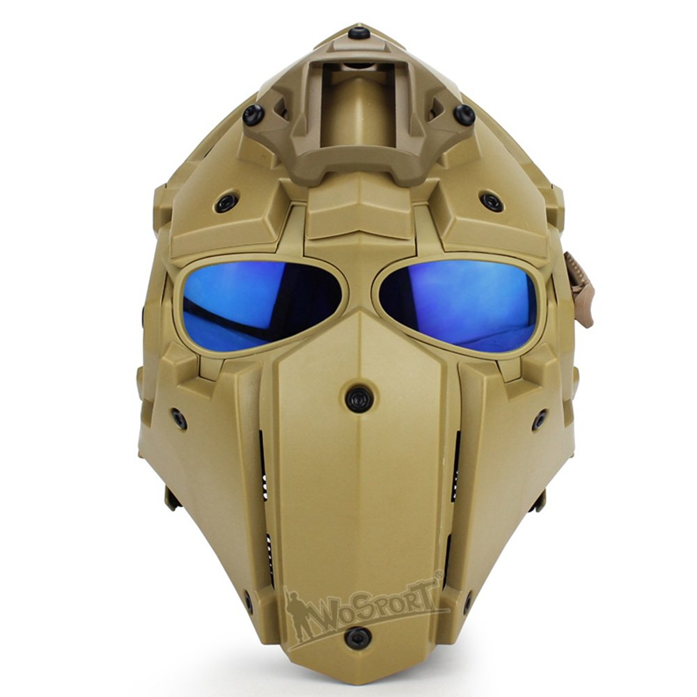LEJUNJIE Tactical Airsoft Helmet Full Face Protection Mask Goggles Hunting Paintball Shooting Military Motorcycle Cosplay Movie Prop by LEJUNJIE