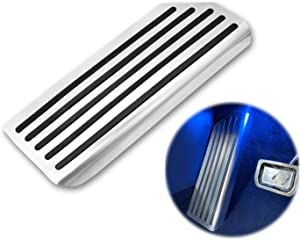 Topfit Model 3 Dead Pedal Cover,Auto Aluminium Left Foot Rest Pedal Compatible Tesla Model 3 Upgraded