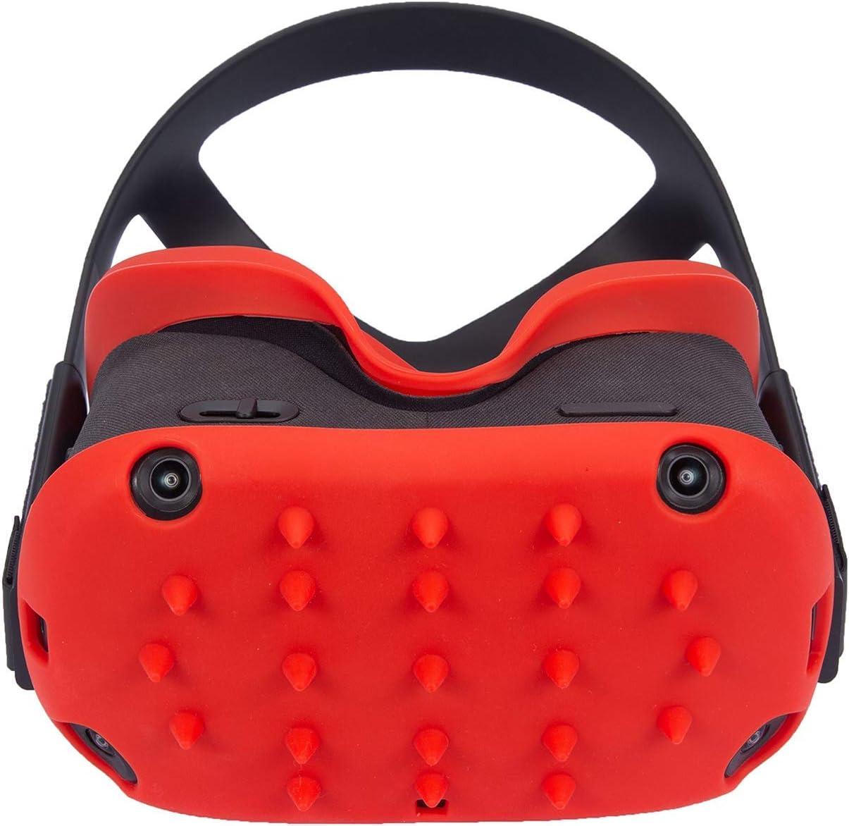 VR Face Avant Portective Cover /& Interface Face Pad Cover Silicone pour Oculus Quest Skin /& Cover Noir