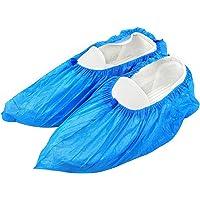 kuou 100 adet mavi tek kullanımlık, birinci sınıf galoş, zemin, halı, ayakkabı koruması, uygun