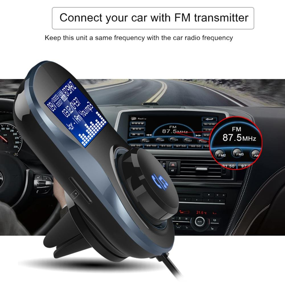 AnySell Bc30/de Voiture Mains Libres Bluetooth Lecteur MP3/transmetteur FM Dual USB Charger