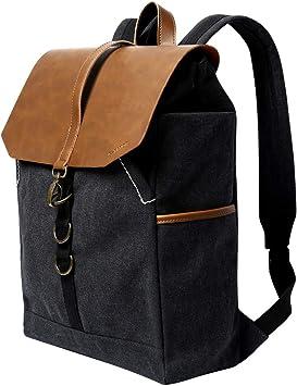 G Favor Rucksack Damen Canvas Pu Leder Laptop Rucksack Herren Daypack Für Reisen Uni Schule Arbeit Amazon De Koffer Rucksäcke Taschen