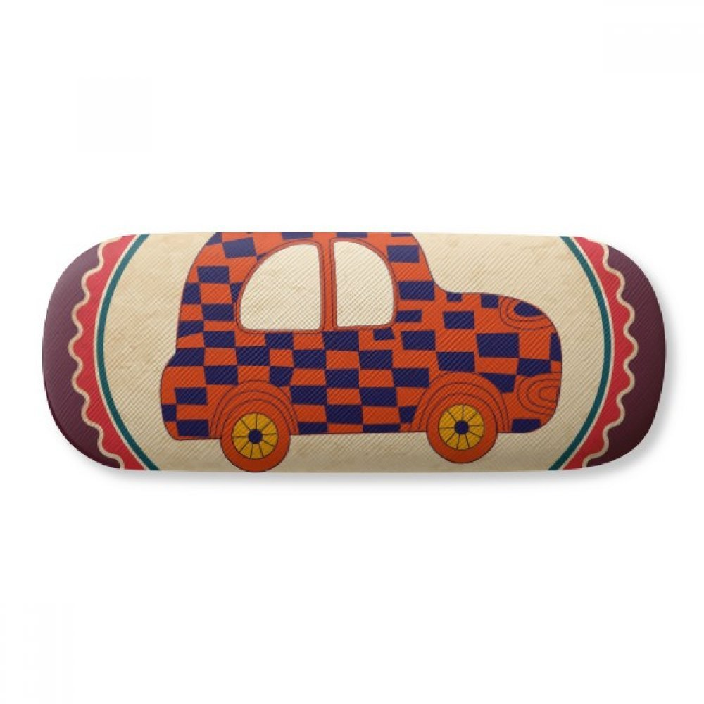 Little car UK London Stamp Britian Glasses Case Eyeglasses Clam Shell Holder Storage Box