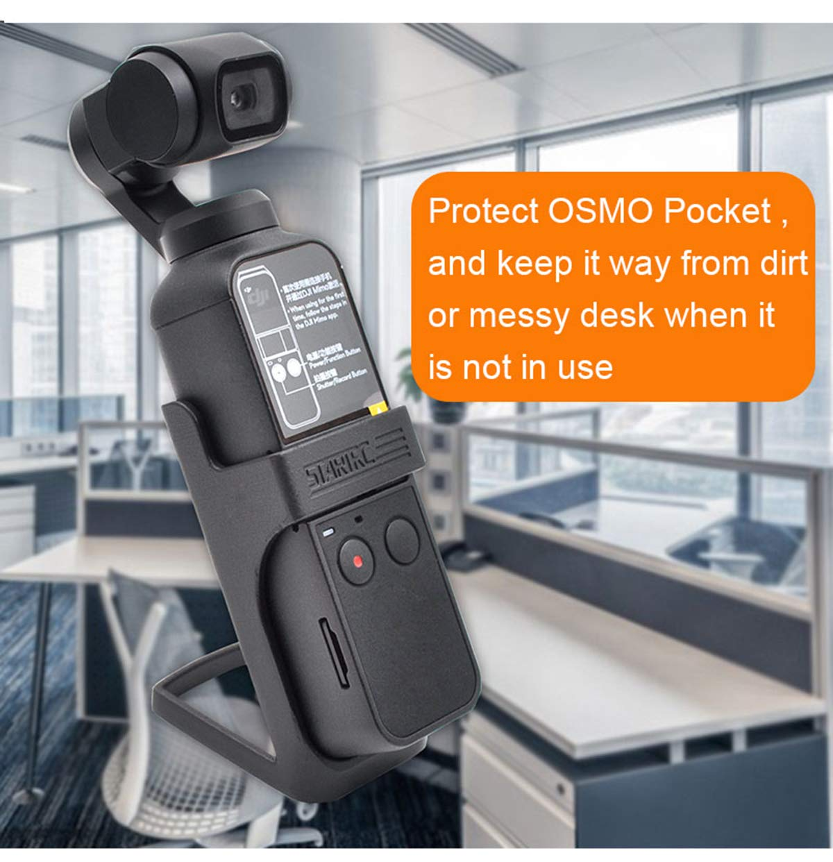 Ailsan for DJI OSMO Pocket Accessories Desk Dock Lightweight Table Support Stand Holder Base Gimbal Camera Fixed Bracket