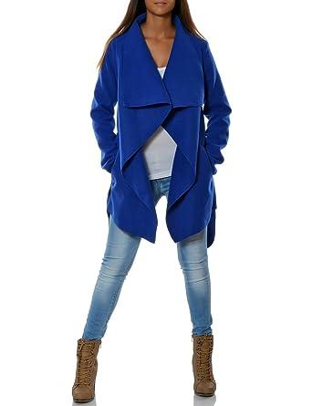 Damen Mantel Hüftlang Mit Gürtel Da 15717 Amazonde Bekleidung