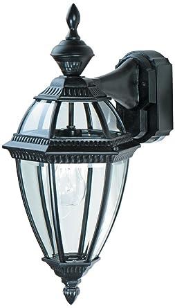 Heritage Black 21u0026quot; Dusk To Dawn Motion Sensor Outdoor Light