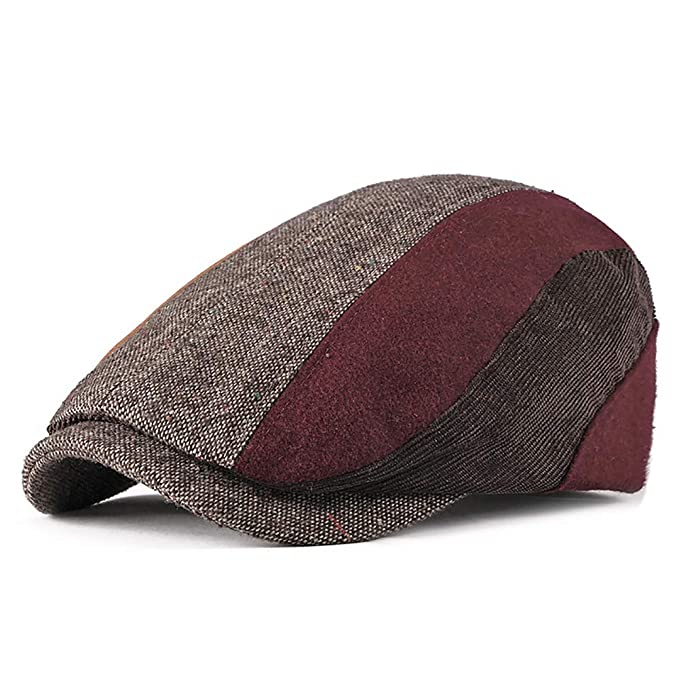 Fasbys Mens Cotton Flat Cap Gatsby Duckbill Hat Newsboy Ivy Irish Cabbie  Scally Cap (Coffee) at Amazon Men s Clothing store  cb46f3cc90d0