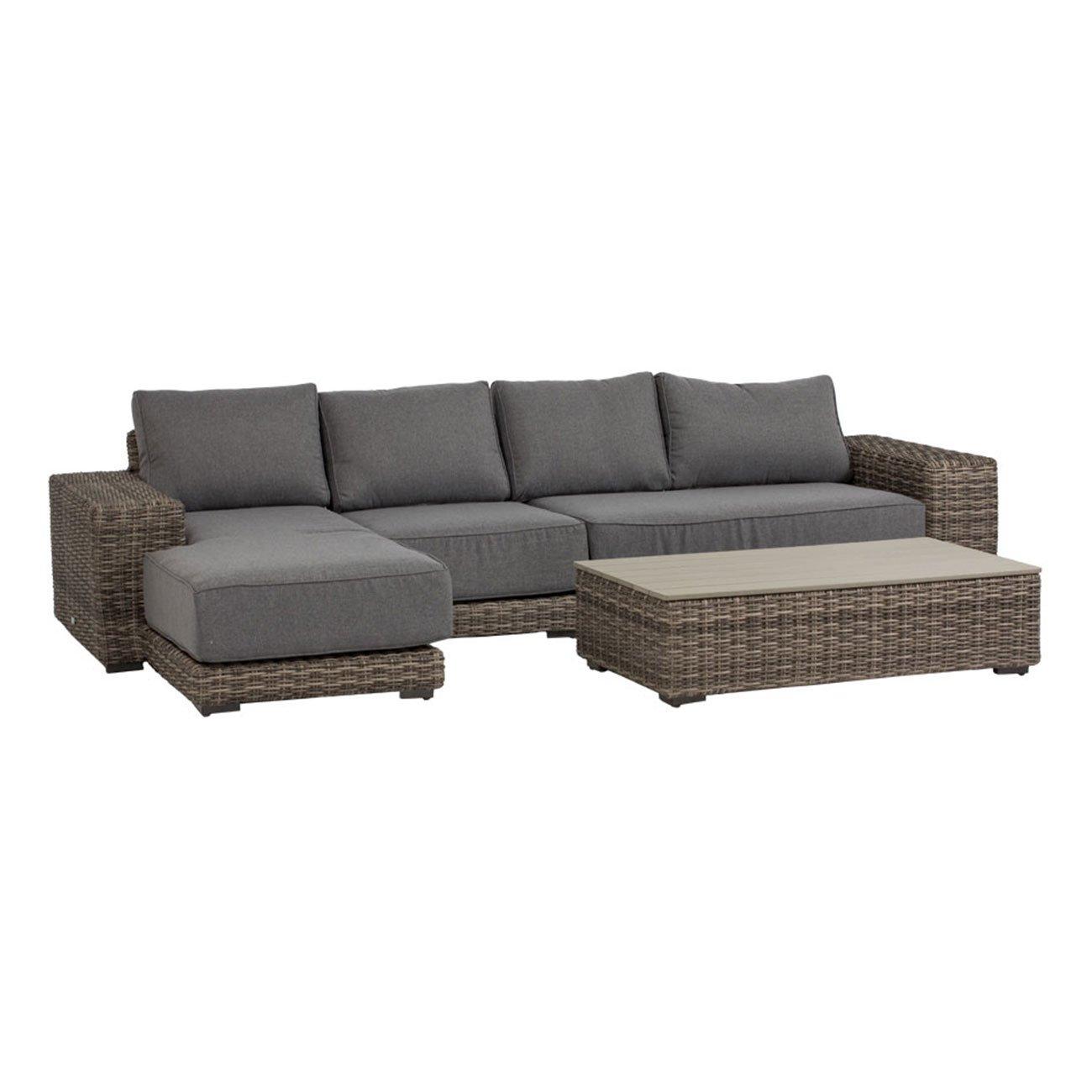 Gartenlounge OUTLIV. Messina Loungegruppe mit Tisch 4-teilig Organic Grey / Anthrazit 700016-849764