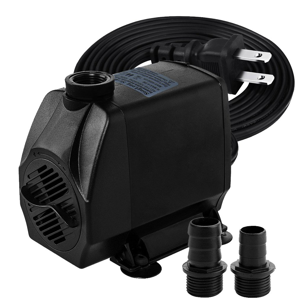 Minerva 1050GPH Submersible Water Pumps For Aquarium, Tabletop fountains, Pond, Water gardens and Hydroponic systems with Two Nozzles, CE-ROHS Approved, 5.9ft Power Cord