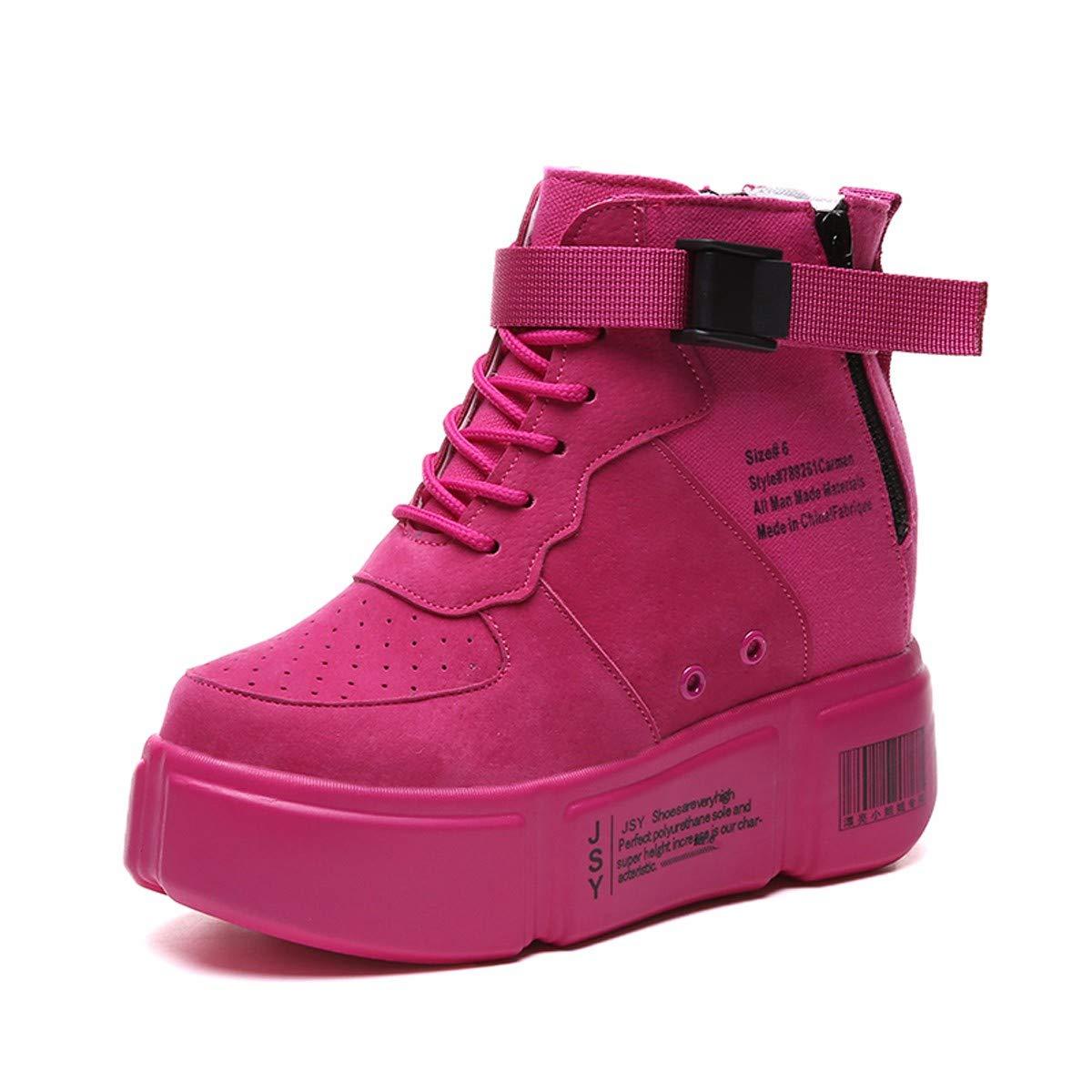 KPHY Damenschuhe Hohe Schuhe Damenschuhe Innen Verschärfen 10Cm Herbst Hip - Hop - Dicke Hintern Student Casual Schuhen.