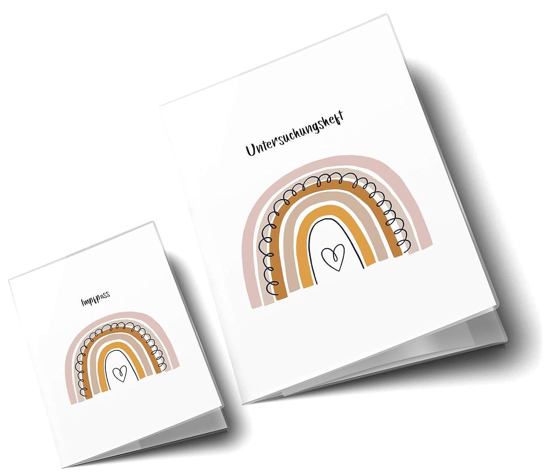 U-Heft H/üllen 3-teilig Set Regenbogen Untersuchungsheft H/ülle /& Impfpassh/ülle sch/öne Geschenkidee U-Heft Set 3-teilig ohne Personalisierung, Herzchen