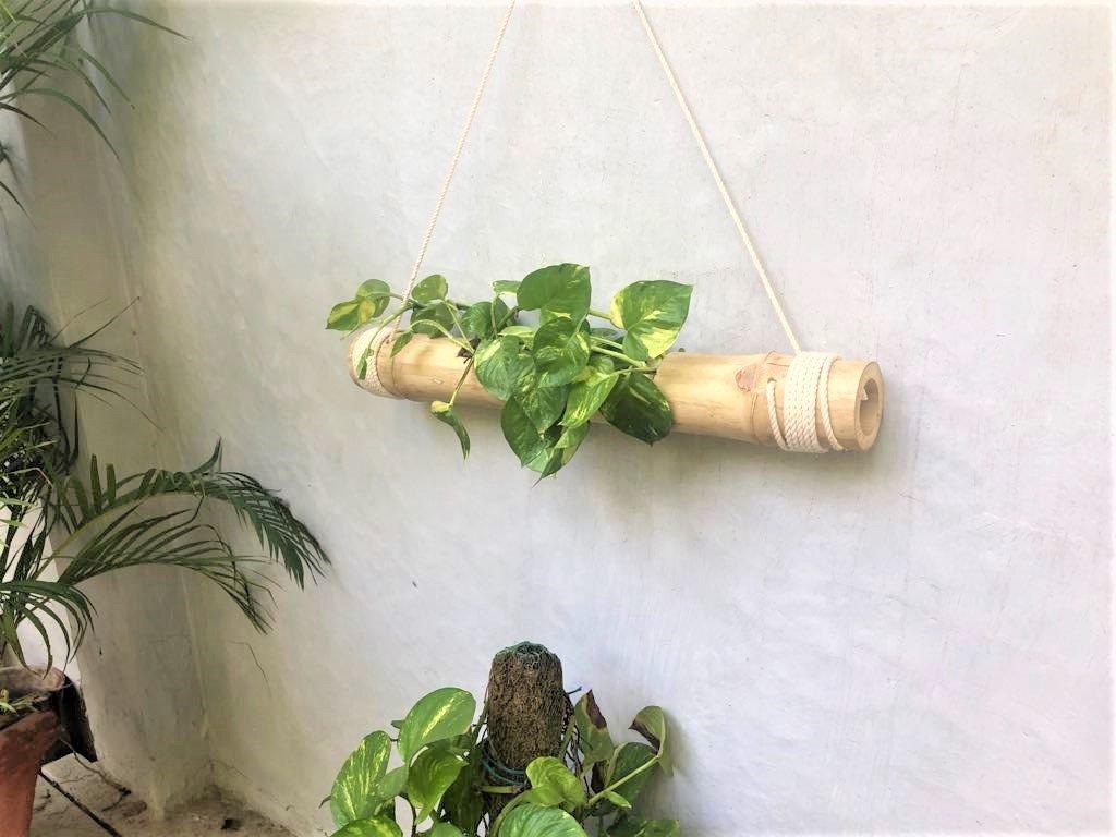 NAOE Bamboo Hanging Flower Pot