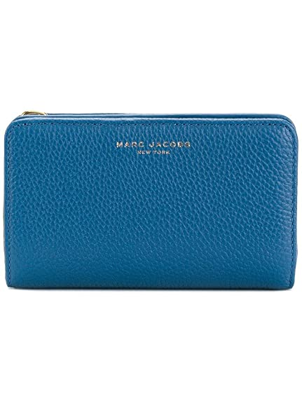 268c23db43 Marc Jacobs Womens Gotham Compact Wallet Blue (Pacific): Amazon.co ...