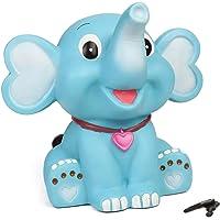 Joy Stories Large Elephant Shaped Money Saving Bank, Coin Holder, Piggy Bank for Kids - Blue