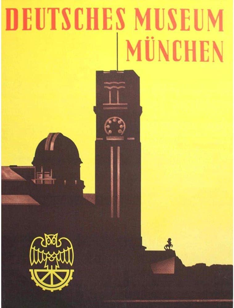 Wee Blue Coo Travel German Museum Munich Munchen Unframed Wall Art Print Poster Home Decor Premium