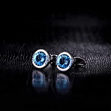N·XHXL Moda Cristal Azul Gemelos Hombres, Lujoso Camisa ...