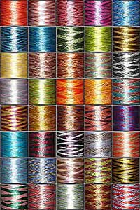 40-cone Variegated (Multicolored) Polyester Embroidery Thread Kit - 40 colors - 1100 yards - 40wt