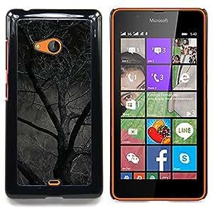 """S-type Noche Árbol Bosque asustadizo de Halloween"""" - Arte & diseño plástico duro Fundas Cover Cubre Hard Case Cover For Nokia Lumia 540"""