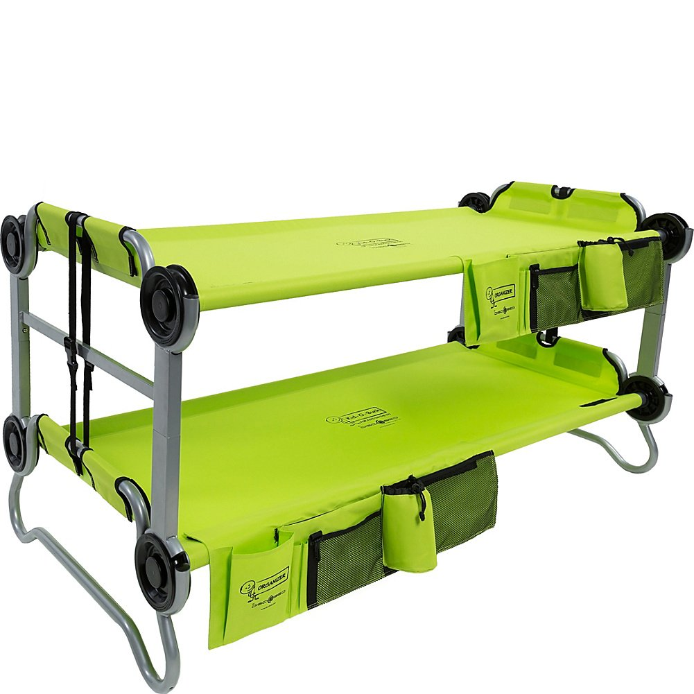 Disc O Bed Youth Kid Bunk With Organizers Lime Green Amazonca Sports Outdoors